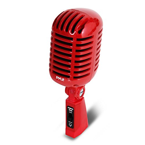 ic Retro Vintage Style Dynamisches Vocal Mikrofon mit 16FT XLR-Kabel (rot) 8.30in. x 3.80in. x 3.40in. Pyle PDMICR42R Classic Retro Vintage Style Dynamic Vocal Microphone 16ft Cable ()