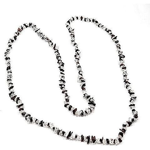 silvesto India diaspro rosso e cristallo collana di corda per le donne PG 9194