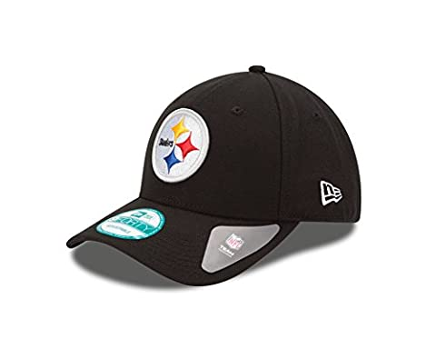 New Era Men's the League 9Forty Pittsburgh Steelers Offical Team Colour Baseball Cap, Black, One Size