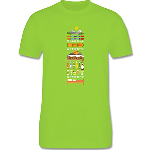 Après Ski - Apres Ski Tag - Herren Premium T-Shirt Hellgrün