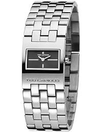 Ted Lapidus - Femme - D0112RNNX - Quartz Analogique - Cadran Noir - Argent - Bracelet Acier Inoxydable