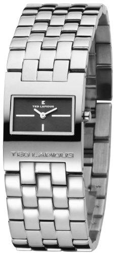 Ted Lapidus D0112RNNX - Reloj analógico de mujer de cuarzo con correa de acero inoxidable plateada