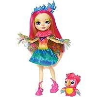 Mattel  Games FJJ21 Enchantimals Papageienmädchen Peeki Parrot Puppe