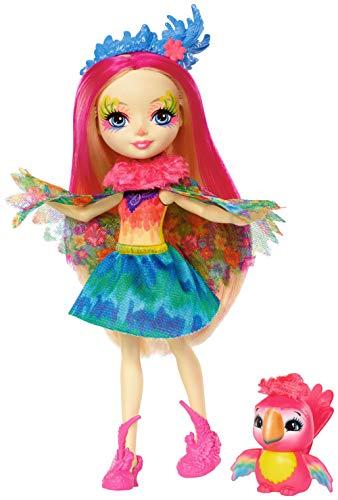 (Mattel  Games FJJ21 Enchantimals Papageienmädchen Peeki Parrot Puppe)