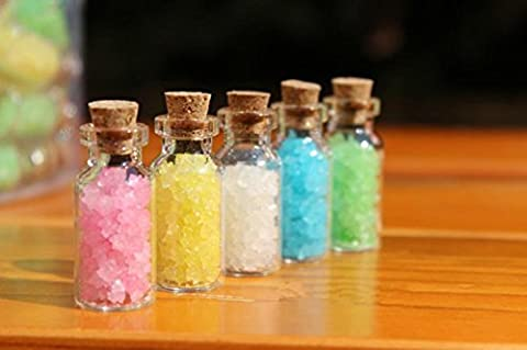 LIFECART 20pcs Tiny Empty Clear Glass Bottles Jars with Cork Stoppers - 2ml,16*35mm