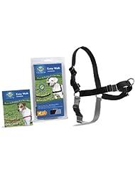 PetSafe/Premier Dog Nylon EASY WALK HARNESS Reduce Pulling Medium Black & Silver