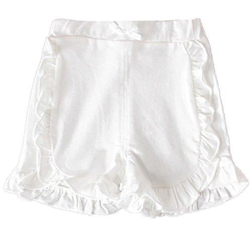 Kleinkind baby Mädchen Sommer Sweety Bowknot Soild Rüsche Hose Bloomer Shorts 2-3 Y (Sport-kleinkind-unterwäsche)