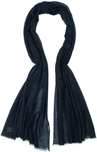 FRAAS Damenschal Schal, 70 x 200 cm, Wolle Schwarz