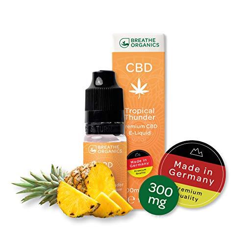Premium CBD Liquid Tropical Thunder von Breathe Organics®   E Liquid ohne Nikotin mit 300 mg CBD   100{446b7936b80a00e9ed8a0852f42eeaa56a5630502cf7ddb19e15d93e117814c7} natürliche Terpene   Cannabidiol Liquid