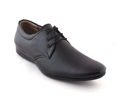 ALESTINO Formal Shoes for Men Leather formal Shoes FD22 (43 UK) Black
