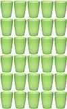 idea-station NEO Kunststoff-Becher 30 Stück, 250 ml, mehrweg, bruchsicher, grün, stapelbar, Party-Becher, Plastik-Becher, Mehrweg-Becher, Wasser-Gläser, Trink-Gläser
