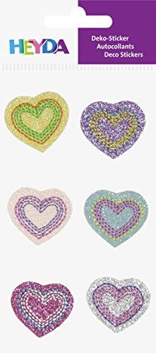 Heyda 203782815 Textil-Sticker, Motiv: Herzen -