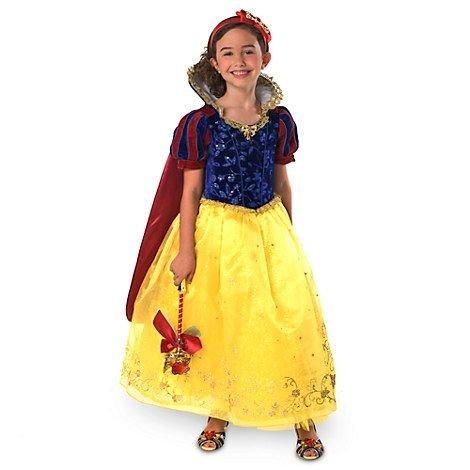 Disney Schneewittchen Deluxe Kostüm für Mädchen / Kinder mit rotem Umhang - Offizielles Disney Ladenkleid - Größe (Captain Kostüme Hook Deluxe Kind)