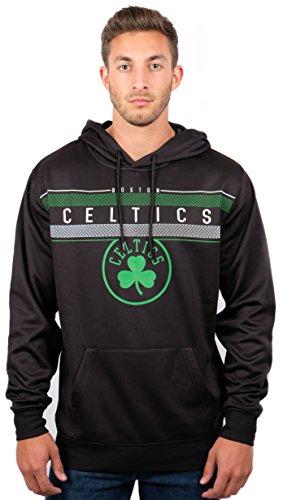 UNK NBA Herren Fleece Hoodie Pullover Pullover Poly Midtown, Herren, Fleece Hoodie Pullover Sweatshirt Poly Midtown, schwarz, X-Large -