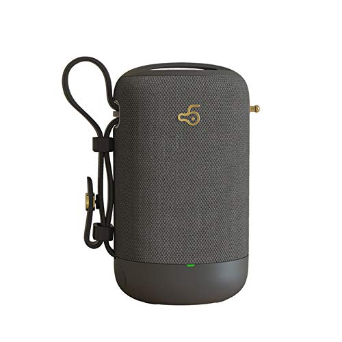 WWJYY Enceinte Bluetooth Portable, Enceinte Bluetooth Waterproof Haut-Parleur sans Fil Pilote Double Créatif Son 360° Basses Puissantes Carte TF Support, for Voiture Smartphone,Gray