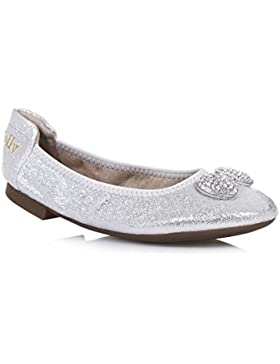 Lelli Kelly LK4102 (AH01) Argento Glitter Magiche Shoes-30 (UK 12)