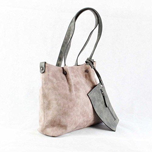Maestro Surprise 16 Handtasche Bag in Bag Shopper 35 cm rose hellgrau