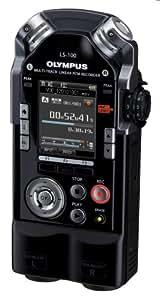 Olympus LS-100 Multi-Track-Linear-PCM-Recorder (2 XLR/Klinke-Kombibuchsen, SDXC-Kartenslot, 24bit/96Khz, 4GB interner Speicher)