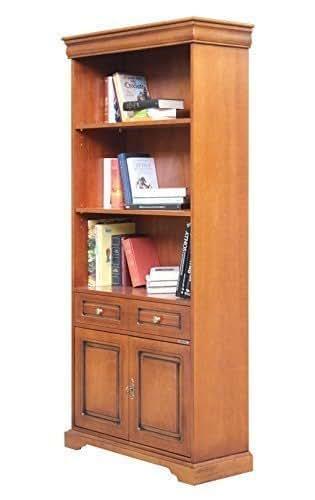 Libreria alta stile Luigi Filippo per ufficio e soggiorno