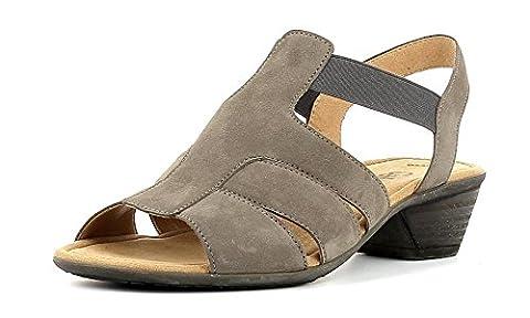 Gabor Damenschuhe 44.543.01 Damen Sandalen, Sandaletten mit verbreiterte Auftrittsfläche Braun (fumo), UK 6