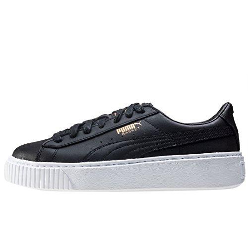 Puma Basket Platform Core, Sneakers Basses Femme Noir (Black-gold)