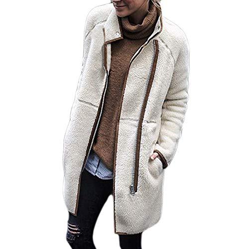 Stehkragen Parka Mantel Jacke MYMYG Frauen Velvet Long Sleeve Solid Top Dicker Outwear Mantel Jacke...