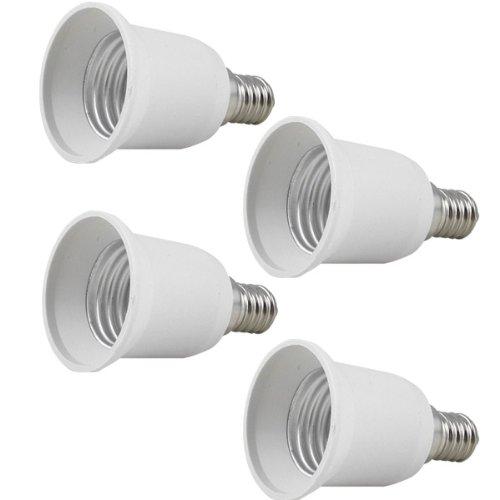 4x MENGS® Qualité E14 à E27 porte-lampe adaptateur convertisseur à haute température Résistance des matériaux ABS - rallonge / support