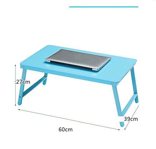 Pliage Bureau Bureau desk bureau minimaliste avec dortoir paresseux Bureau d'apprentissage-étudiants des collèges ( Color : Bleu , Taille : 60*30*27cm )