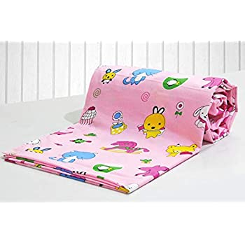 AURAVE Kids Funky Pink Teddy Print 1 Piece Cotton Duvet Cover/Quilt Cover/Blanket Cover, Single Bed (with Zipper)