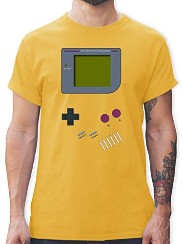Pilot Kostüm Vintage - Nerds & Geeks - Gameboy - S - Gelb - L190 - Herren T-Shirt und Männer Tshirt