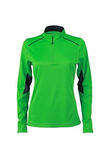 JAMES & NICHOLSON Atmungsaktives Lauf-Shirt green/iron-grey