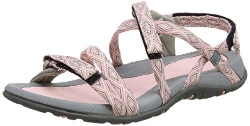 Hi-Tec Santorini Strap, Sandalias de Senderismo para Mujer, Rosa (Papaya Punch/Cool Grey),...