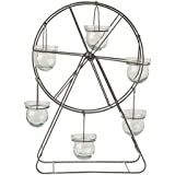 Creative Co-Op DA7125 Collected Notions Metal Wire Ferris Wheel With Glass Votive Holder