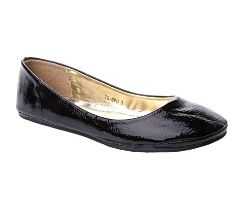 c80a43277acf2 Other Ladies Black Red White Silver Gold Flat Ballet Ballerina Pump Dolly  Work Shoe 3-8 - Buy Online in KSA. Shoes products in Saudi Arabia.