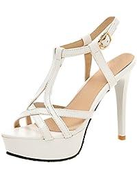 Amazon.it  Sandalo Donna Tacco 12 - Sandali   Scarpe da donna ... 7c72a8f5b4a