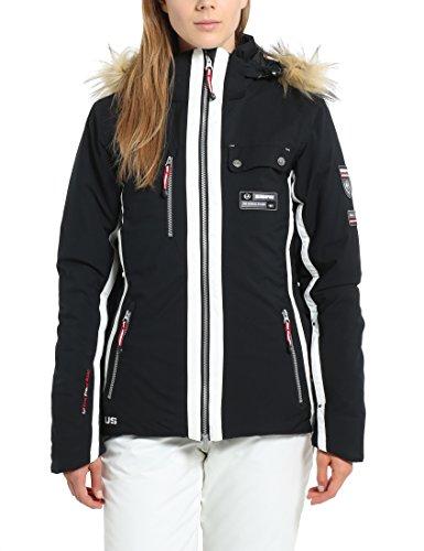 Ultrasport Damen Ski- /winterjacke Snowflake, Schwarz, M, 12132