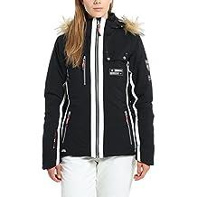 Ultrasport Snowflake - Giacca da sci e alpinismo donna con tecnologia Ultraflow 8.000 - Giubbotto funzionale outdoor per sport invernali e tempo libero, nero, XL