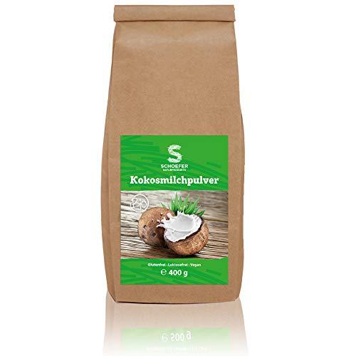 Bio Kokos-Nuss-Milchpulver - Vegan und Glutenfrei - Lactosefreie Milch-Alternative - Ohne Konservierungsstoffe 400 g