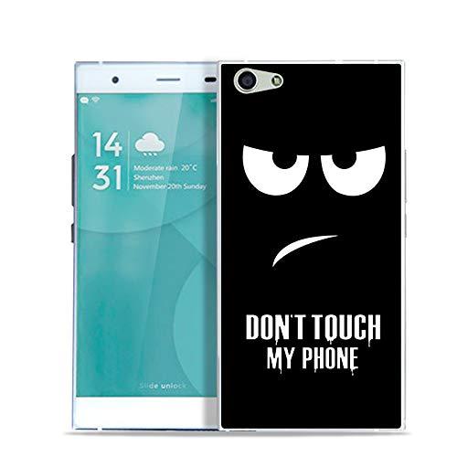 Aksuo for Doogee Y300 Hülle Silikon, TPU Silikonhülle Handyhülle Kratzfest Durchsichtige Stylisch Muster Design Robust Leicht Passgenau Case - Berühren Sie Nicht Mein Telefon