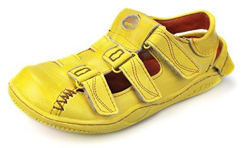 TMA Leder Damen Sommer Schuhe Sandalen 1343 Gelb