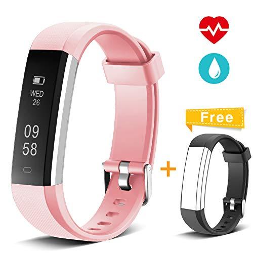 Muzili Pulsera de Actividad Inteligente Fitness Tracker Reloj Deportivo Rastreador de Actividad con Monitor de Ritmo Cardíaco/Contador de Pasos/Monitor de Sueño para Niños Mujeres y Hombres