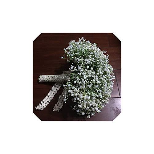 Baby Atem Wedding Bouquets Spitze Griff Frauen Accessoires Partei Brautblumen, gleich wie das Bild (Faux Elfenbein Griff)