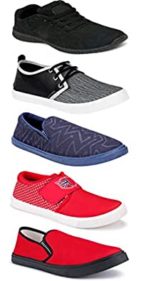 WORLD WEAR FOOTWEAR Sports Running Shoes/Casual/Sneakers/Loafers Shoes for MenMulticolors (Combo-(5)-1219-1221-1140-753-1110)