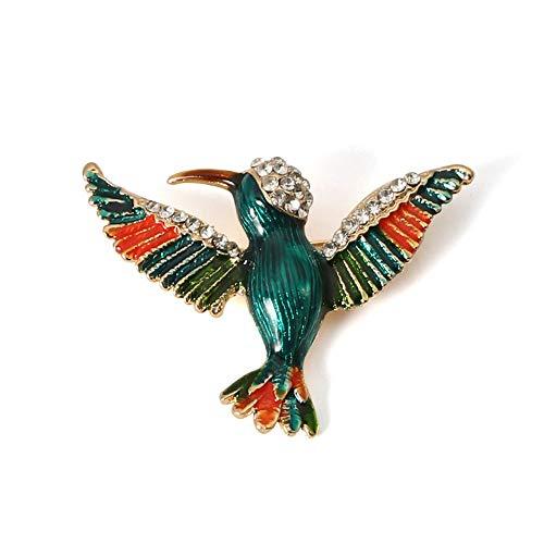 Vogel Kostüm Flügel Grüne - Ningz0l Brosche Grüner Vogel Verbreitet Flügel Tropfende Öllegierung Diamant Brosche Europa Und High-end Temperament Kreative Geschenke 50,7mm * 35mm