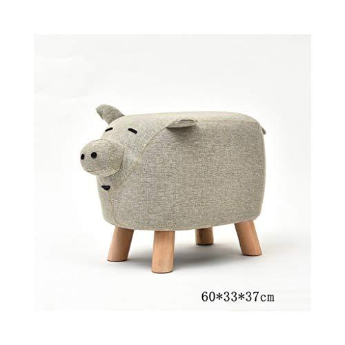 TANG CHAO Hocker Fußbank Hocker Hocker Hocker Kleinkinder Massivholz Schuhe Hocker Mode Kreative Kuh Hocker Tuch Schuhe Hocker Stühle (Farbe : A) - Kuh-stuhl