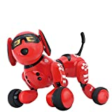 SJZC Cane Robot Cagnolino Dancing Singing Telecomando Intelligente Elettrico,Red,26 * 18.5 * 18cm