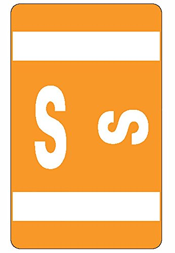 Smead AlphaZ® ACCS Color Coded Alphabetic Label S - Orange 100pieza(s) - Etiqueta autoadhesiva (25,4 mm, 41 mm, 100 pieza(s), 10 hojas)