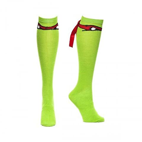 Turtles - Raphael Mask with Ribbon, Knee High Sock [Import allemand]