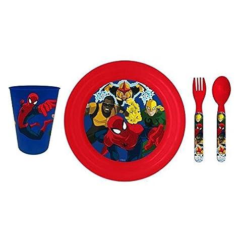 SPIDERMAN Set Dejeuner 4Pcs Pique
