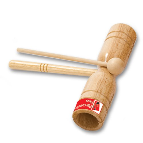 Percussion Plus PP253 Two Tone Wooden Block with Beater